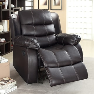 Buxton Brown Bonded Leather Chair