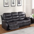 Buxton Brown Bonded Leather Sofa