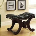 ETHAN HOME Imperial Dark Brown Bench with Nailhead Detail