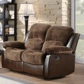 TRIBECCA HOME Coleford Tufted Transitional Double Reclining Loveseat