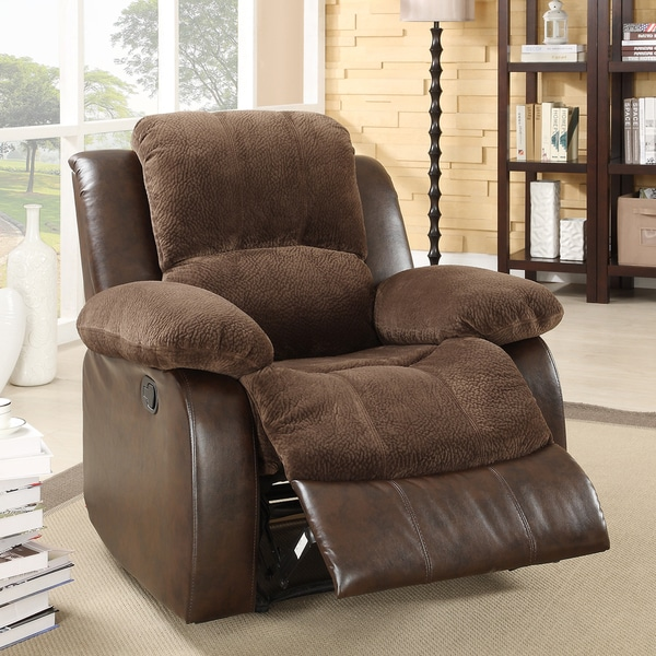 TRIBECCA HOME Coleford Coffee Recliner Chair