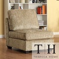 Barnsley Armless Brown Beige Chenille Chair