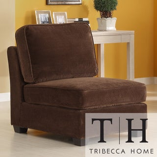 Tribecca Home Barnsley Dark Brown Armless Chair