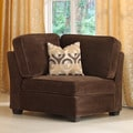 Barnsley Dark Brown Corner Chair with Pillow