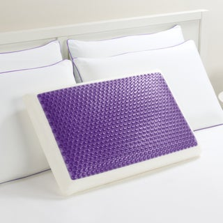 Comfort Memories Gel Purple Bubble Bed Pillow