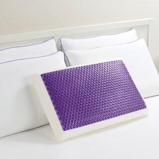 Comfort Memories Gel Purple Bubble Bed Pillow