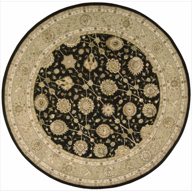 Nourison 3000 Hand-Tufted Black Area Rug (8' x 8') Round