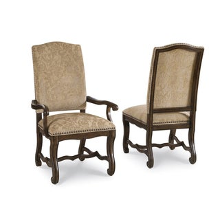 Coronado Linen Upholstered Arm Chair (Set of 2)