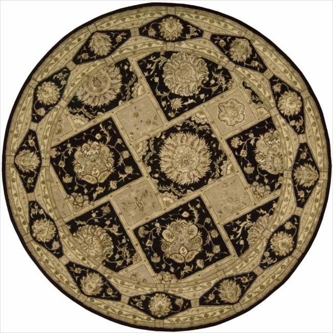Nourison 3000 Hand-tufted Black Rug (6 x 6) Round