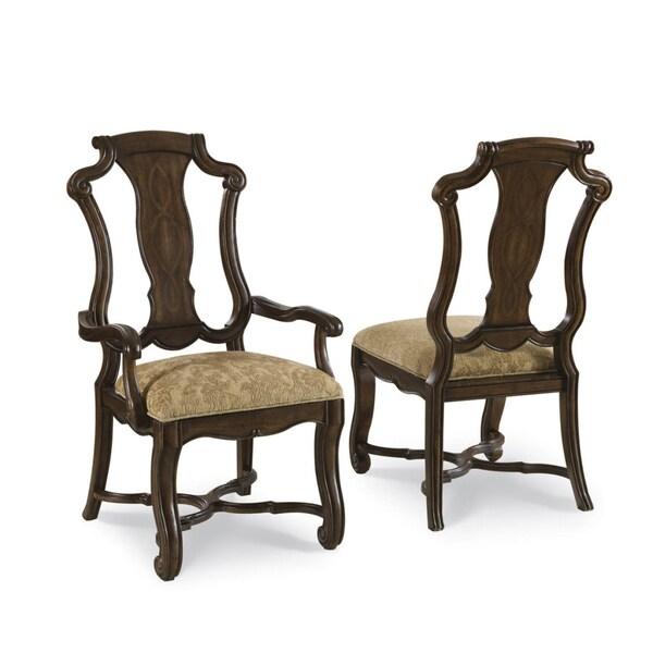 Coronado Linen Splat Arm Chair (Set of 2)