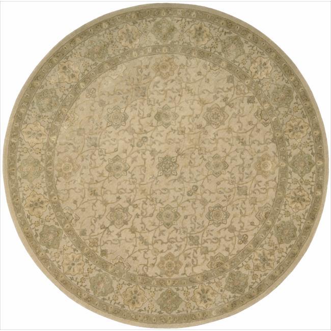 Nourison 3000 Hand-Tufted Beige Wool Round Rug (6' x 6')