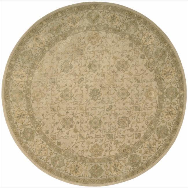 Nourison 3000 Hand-tufted Beige Rug (6 x 6) Round