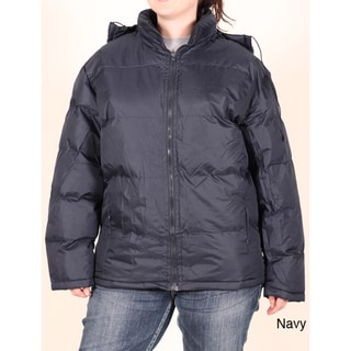 Maxim Studio Juniors Plus Hooded Bubble Jacket