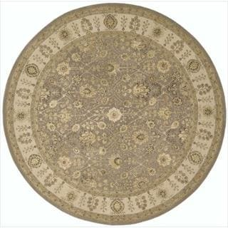 Nourison 3000 Hand-tufted Taupe Rug (8 x 8) Round