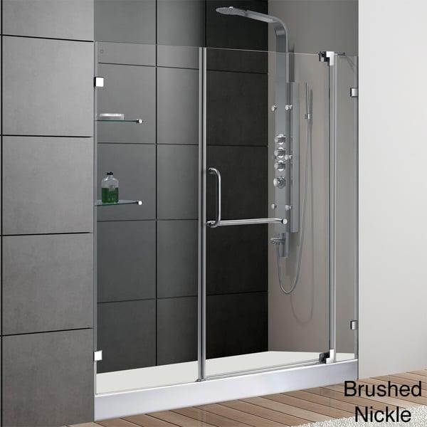 VIGO Clear Glass with White Base Frameless Shower Door