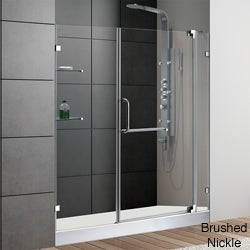 VIGO Clear Glass with White Base Frameless Shower Door