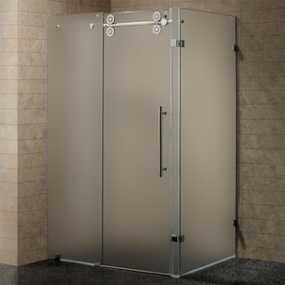 Vigo 60-inch Frameless 0.375-inch Frosted Enclosure