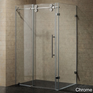 VIGO 60-inch Frameless 0.375-inch Shower Enclosure With Clear Glass