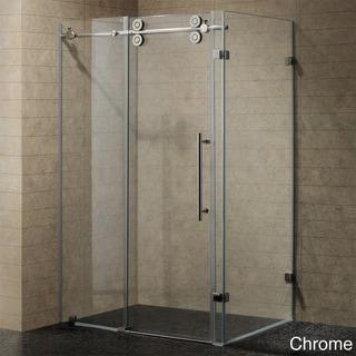 VIGO 60-inch Frameless 0.375-inch Shower Enclosure With Clear Glass