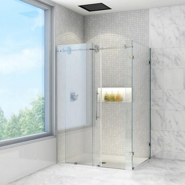 vigo 60 inch frameless shower enclosure with