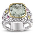 Miadora Sterling Silver Multi-gemstone and Diamond Ring (H-I, I2-I3)
