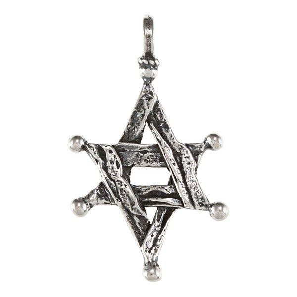 Handcrafted Star of David Silver Pendant (Israel)