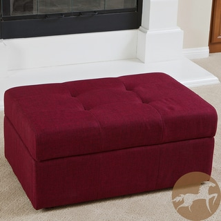 Christopher Knight Home Veranda Red Fabric Storage Ottoman