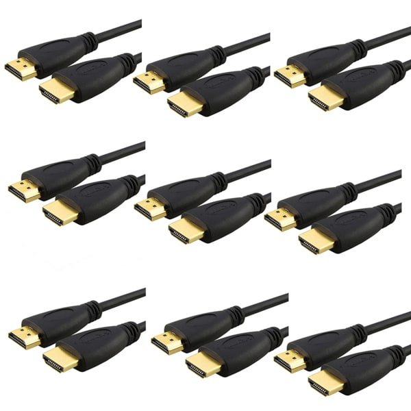BasAcc 6-foot High-speed HDMI Cable for PlayStation 3/ HDTV (Pack of 9)