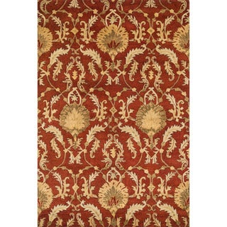 Handtufted Ferring Persimmon Wool Rug (5'0 x 7'6)