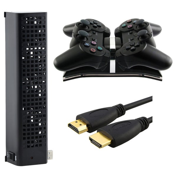 INSTEN Charging Station/ USB Fan/ HDMI Cable for Sony PlayStation 3