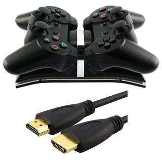 BasAcc 6-foot HDMI Cable/ USB Dual Charger for Sony Playstation 3