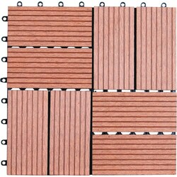 Bamboo 12-inch Square Floor Tiles (Pack of 11)