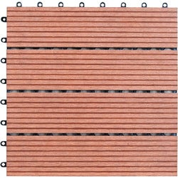 Bamboo 12-inch Floor Tiles (Pack of 11)
