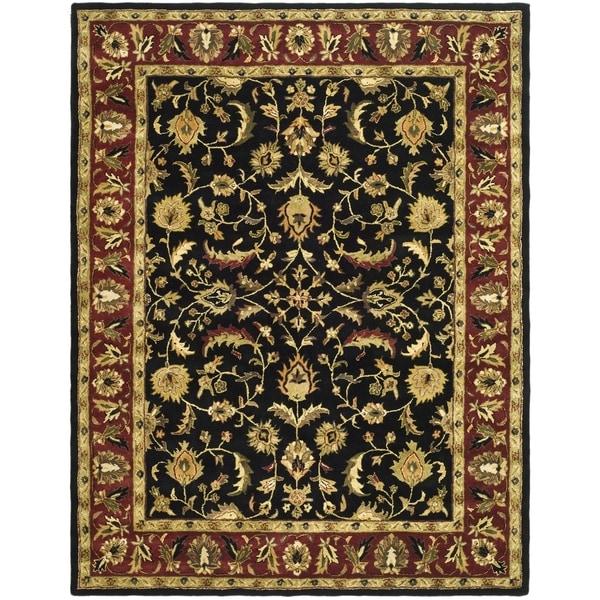 Safavieh Handmade Heritage Heirloom Black/ Red Wool Rug (12' x 18')