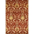 Handtufted Ferring Persimmon Wool Rug (3'6 x 5'6)