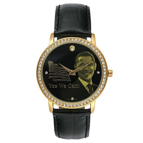 Barack Obama BO-4710 Women's Black Leather Strap Inauguration Watch