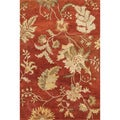 Hand-tufted Ferring Red Wool Rug (5'0 x 7'6)