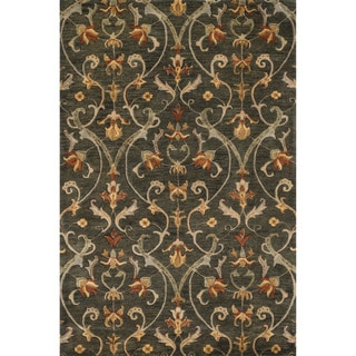 Hand-tufted Ferring Charcoal Wool Rug (5'0 x 7'6)
