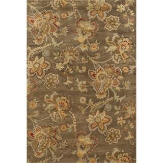 Hand-tufted Ferring Sage Wool Rug (5'0 x 7'6)
