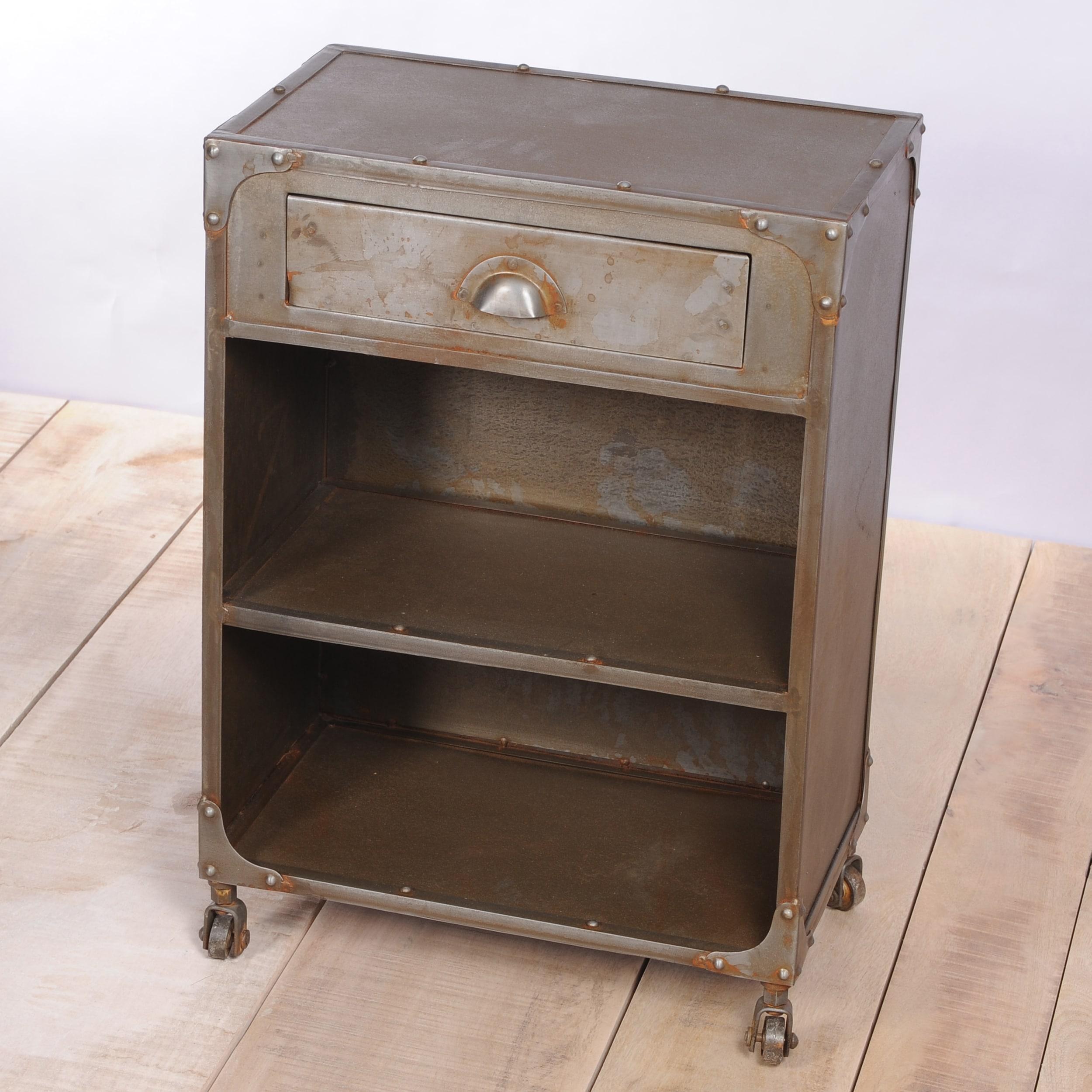 Sarnath Natural Iron Nightstand (India)