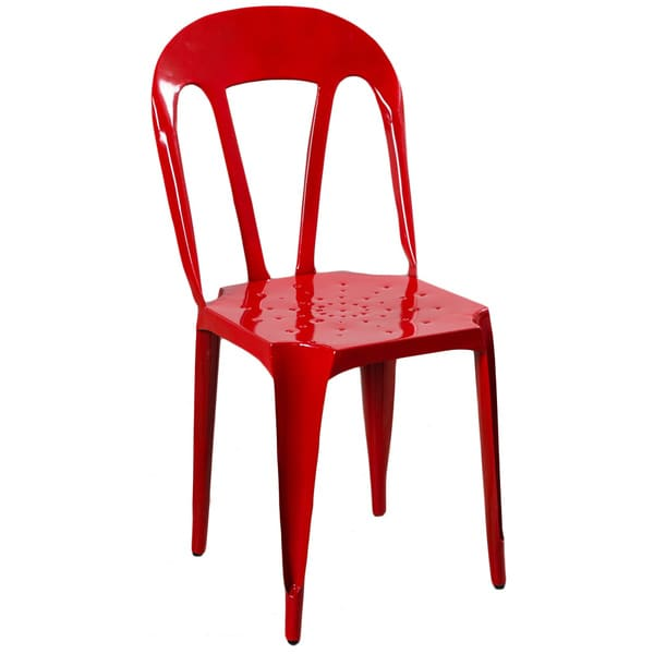 Red Kullu Metal Chair (India)