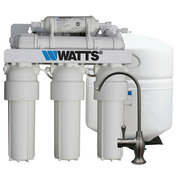 Watts Premier 5-stage Reverse Osmosis Filter Booster Pump System