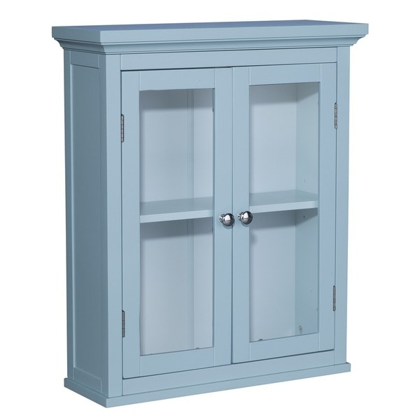 Allendale 2 door wall cabinet overstock shopping great for Bathroom 2 door wall cabinet