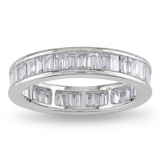 Miadora 18k White Gold 2ct TDW Diamond Eternity Ring (G-H, VS1-VS2)