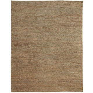 Hand-woven Solid Char Brown Hemp Rug (5' x 8')