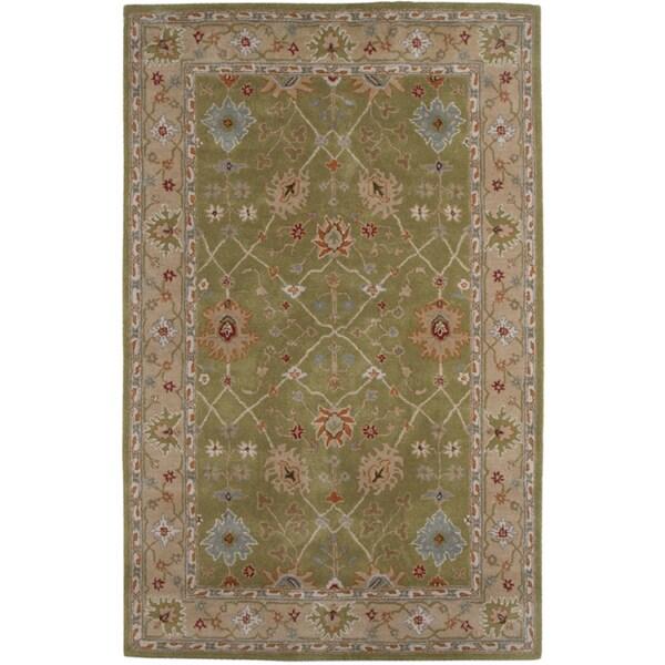 Hand-tufted Oriental Paradise Green Wool Rug (9'6 x 13'6)