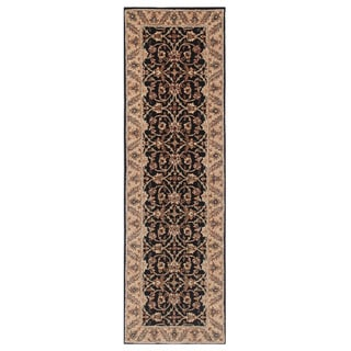 Hand-tufted Oriental Ebony Wool/ Cotton Rug (4' x 20')