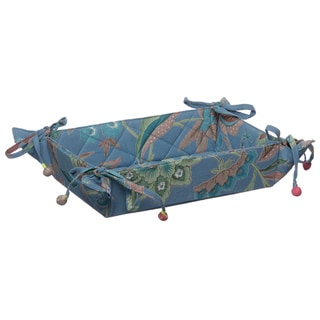 Kerala Cerulean Floral Bun Serving Basket (India)