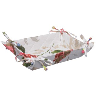 Hydrangea Holly Floral Bun Serving Basket (India)