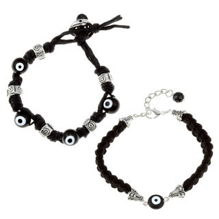 Black Evil Eye Bracelet Set (Guatemala)